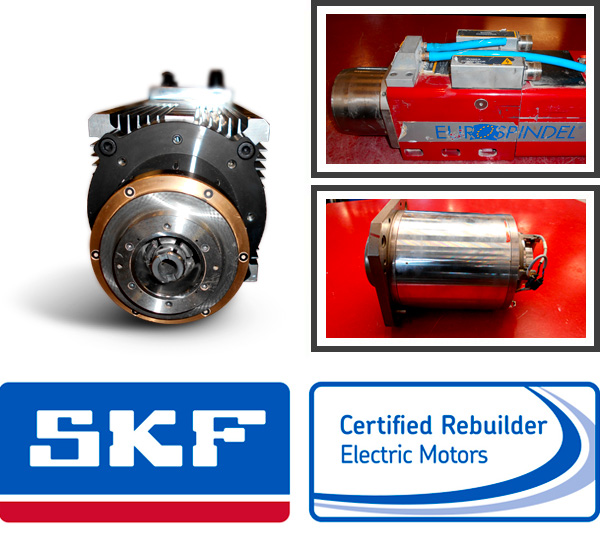 riparazione elettromandrini con strumentazione SKF