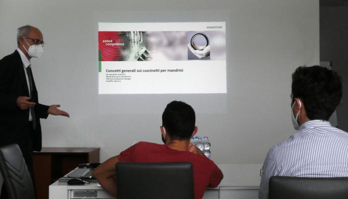 Riparazione elettromandrini: la formazione dei nostri tecnici con Schaeffler